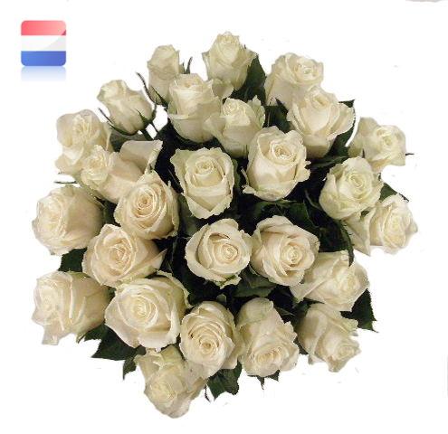Boeket witte rozen