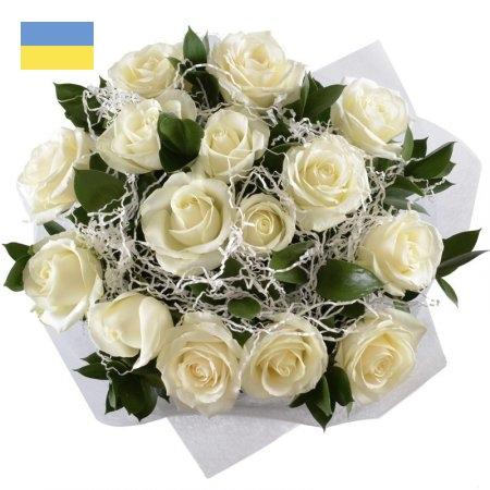 15 ורד לבן עם תוספות